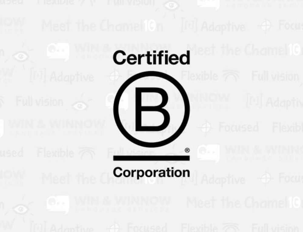 Sustainability at Win & Winnow, a Certified B Corporation