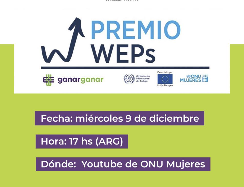 """Ceremonia del Premio WEPs Argentina """"Empresas por ellas"""""""