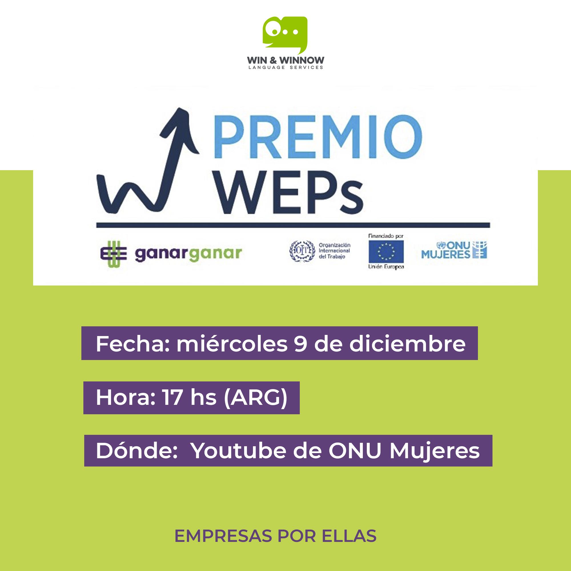 Premios WEPs Argentina Win and WInnow
