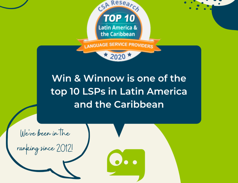Win & Winnow is one of the top 10 LSPs in Latin America and the Caribbean